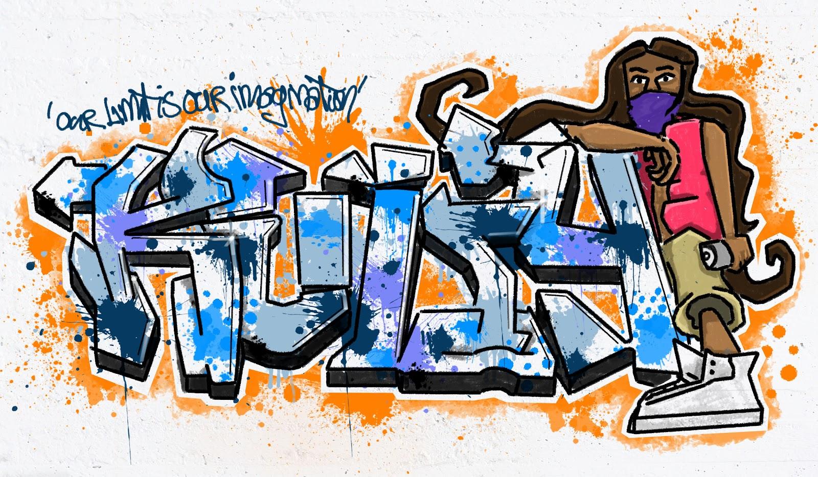 Как из надписи сделать граффити в 781