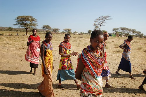 Cattle and children are important aspect to the Maasai people.