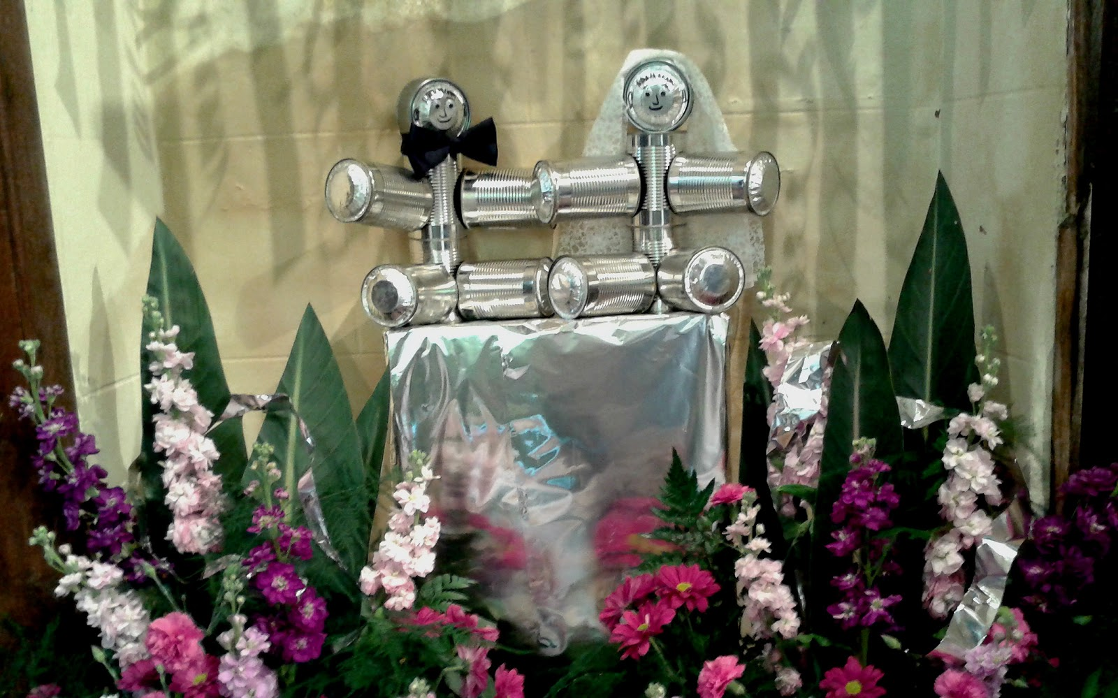 Tin Wedding Anniversary flower display