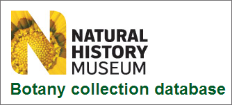 Natural History Museum, London • Botany collection database