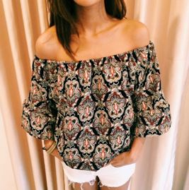 Merakibowy, Zalora, Zalora marketplace, online shopping, off-shoulder top