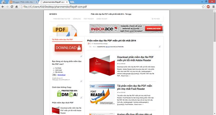 Đọc file PDF bằng trình duyệt Google Chrome
