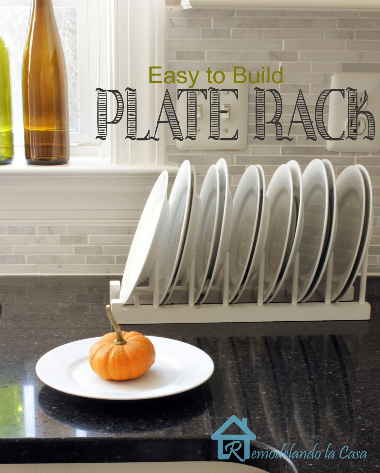 diy - plate rack - stand alone & Easy to Build Plate Rack - Remodelando la Casa