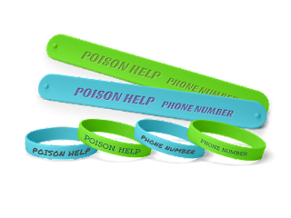 Poison Help and Prevention Wristbands