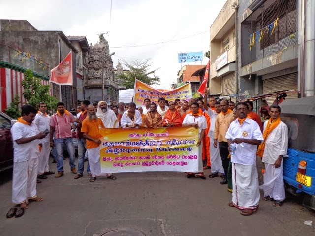 Massive Procession against evangelism in Sri Lanka