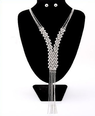 Silver Lariat Y-Necklace