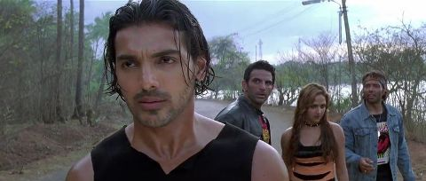 Screen Shot Of Hindi Movie Dhoom (2004) Download And Watch Online Free at worldfree4u.com