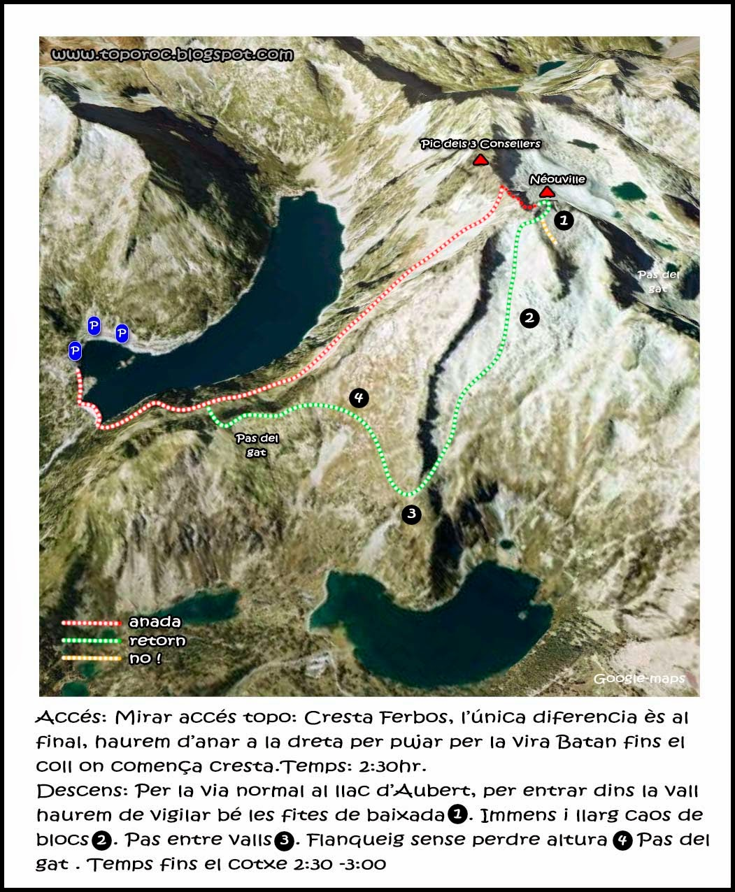 Topo-roc-Ruta-Neouville-Pas du Gat