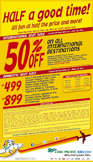 CEBU PACIFIC 50% OFF PROMO