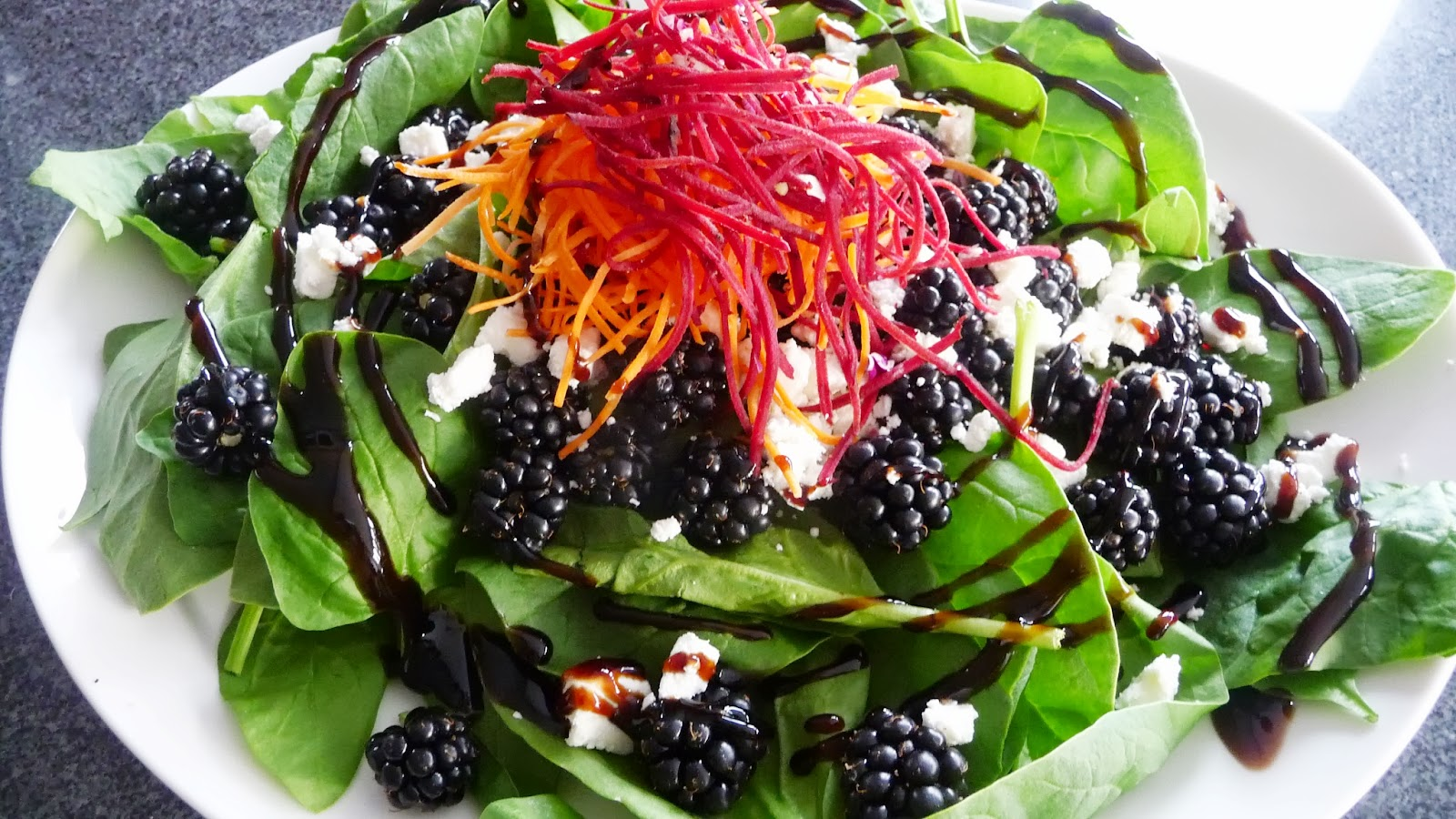 Pinks Pantry: Blackberry Goat Cheese Salad