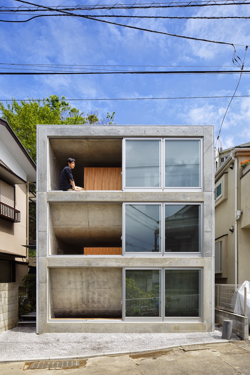 House in byoubugaura by takeshi hosaka arc art blog by for Piani di casa di 5000 metri quadrati con seminterrato