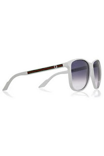 gucci white frame sunglasses
