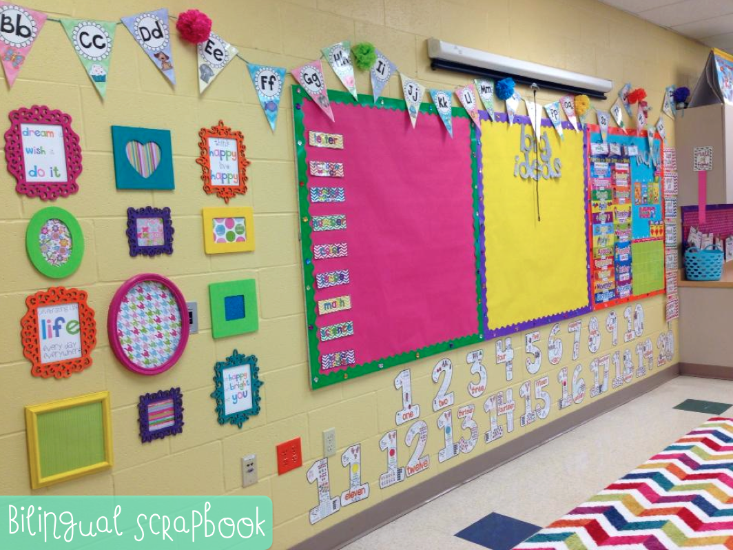 Classroom Decoration Colorful ~ Bilingual scrapbook classroom sneak peek