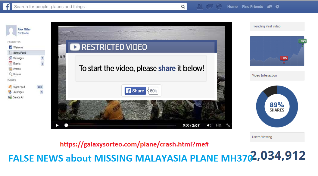 Fake News About Missing Malaysia Flight MH370 that been Found in Vietnam Sea