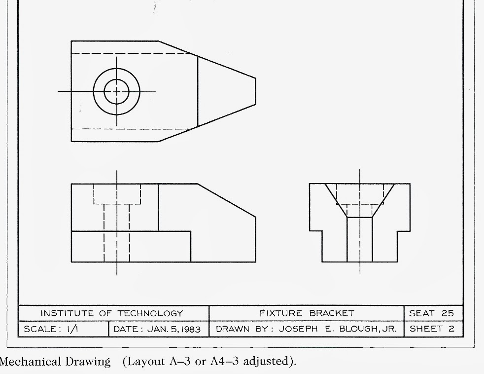 As1 4 further Isometric Technical Drawing S les moreover Orthographic Multiview Projections further Section drawing in addition 3viewdrawings1. on multi view orthographic projections drawings