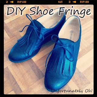 DIY marni-inspired shoe fringe customisation tutorial