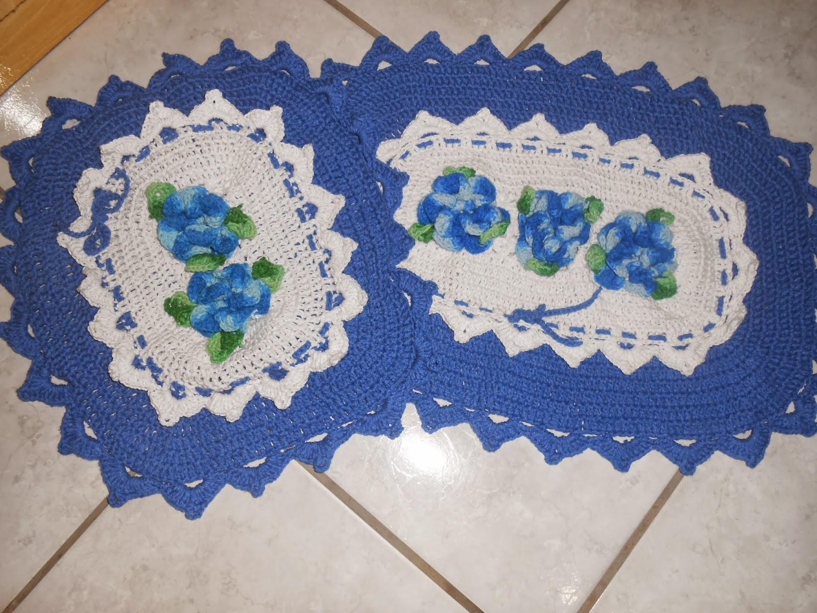 Jogo De Banheiro Azul Em Croche : Mimando minha casinha jogo de banheiro azul em croche