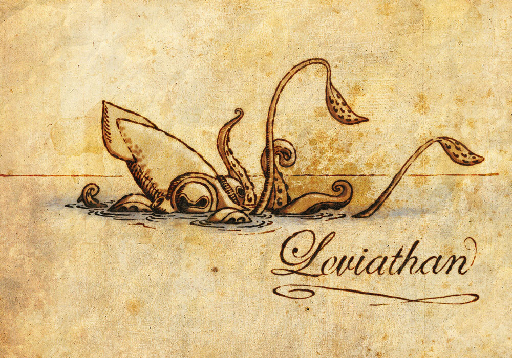 Detail Of A Sea Monster Unknown Credit Grabado