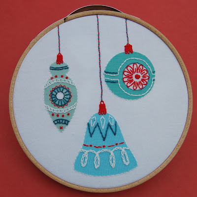 vintage christmas ornament embroidery pattern septemberhouse