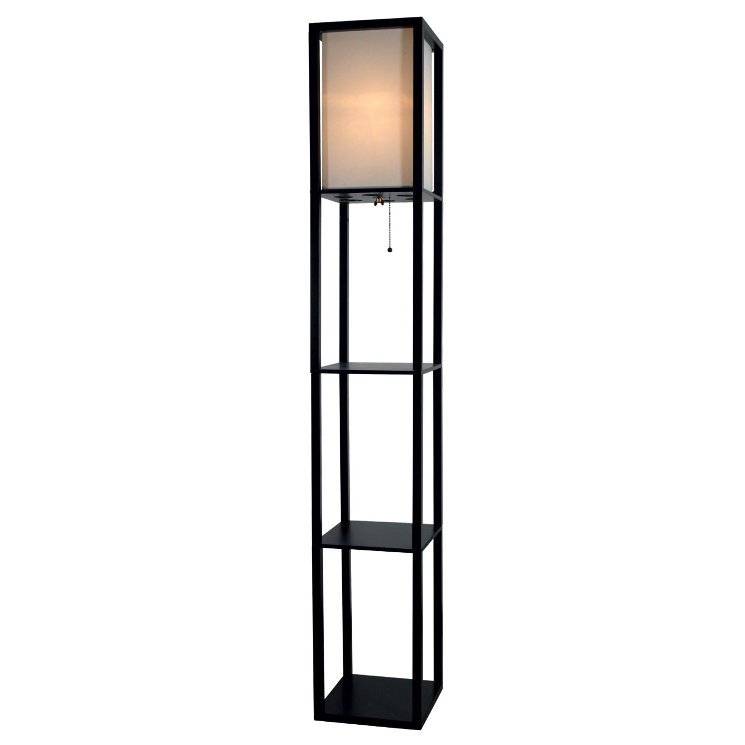 Total fab modern and contemporary floor lamps with shelves for Floor lamp with shelves