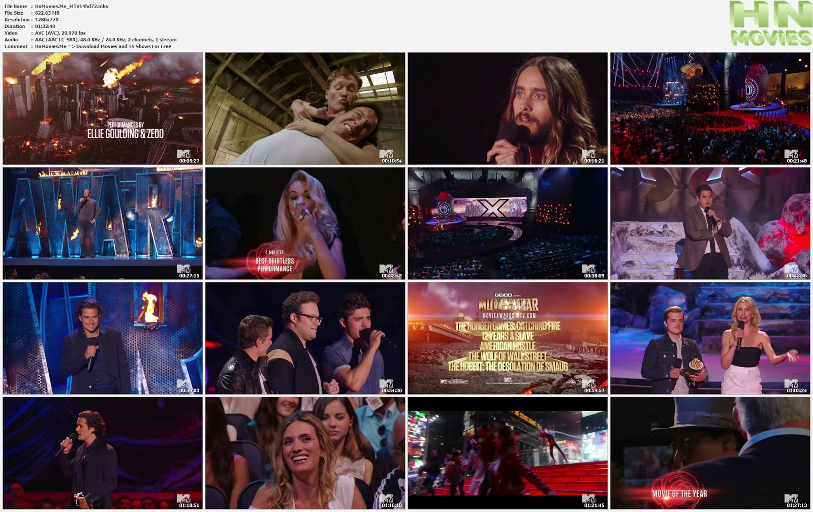 movie screenshot of 2014 MTV Movie Awards fdmovie.com