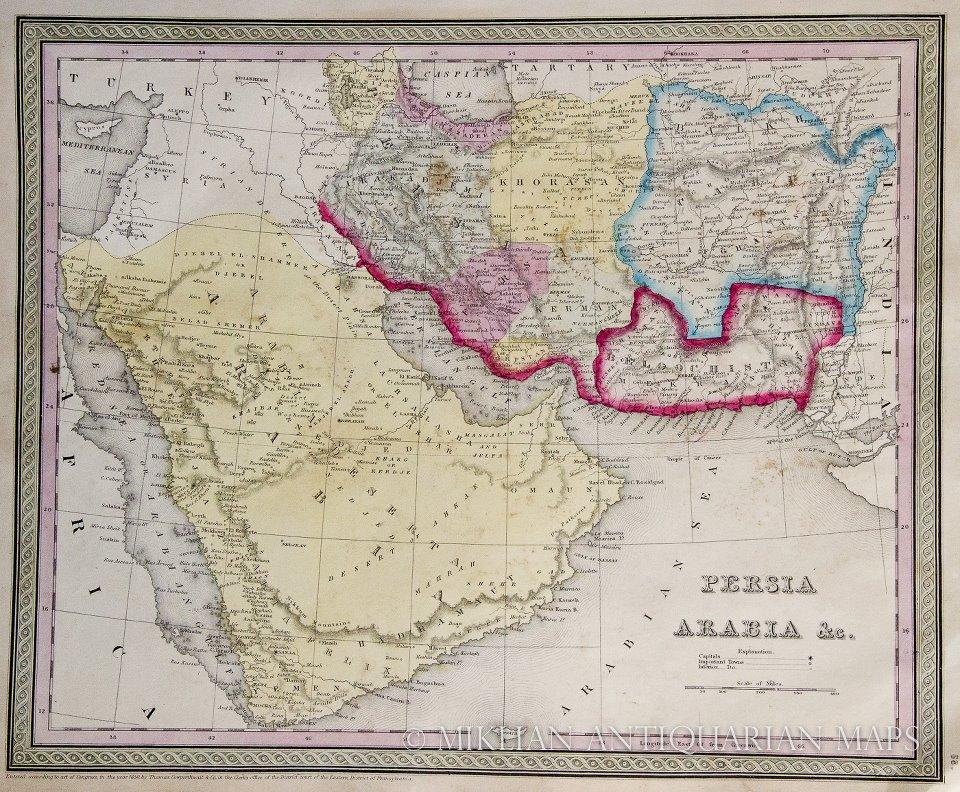 balochistan map in 186...