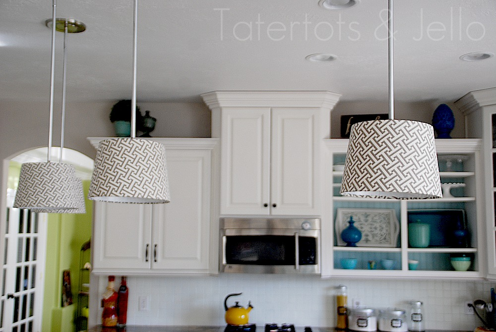 Crafty imaginings silly things who knew recessed for Diy kitchen light fixtures