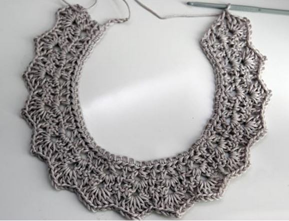 Crochet Collar Necklace Tutorial Potential For Wire The Beading