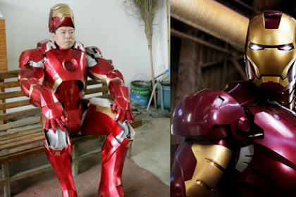Unik, Pria Ini Buat Baju Iron Man dalam Waktu Satu Tahun