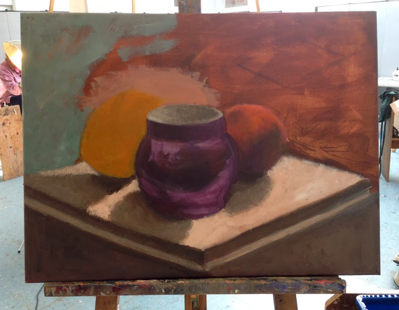 My acrylic still life, session 2