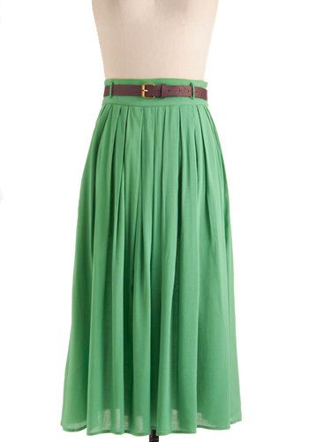 Fabulous Green Maxi Skirt