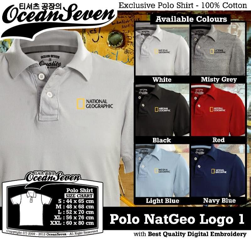 Kaos Polo NatGeo Logo 1