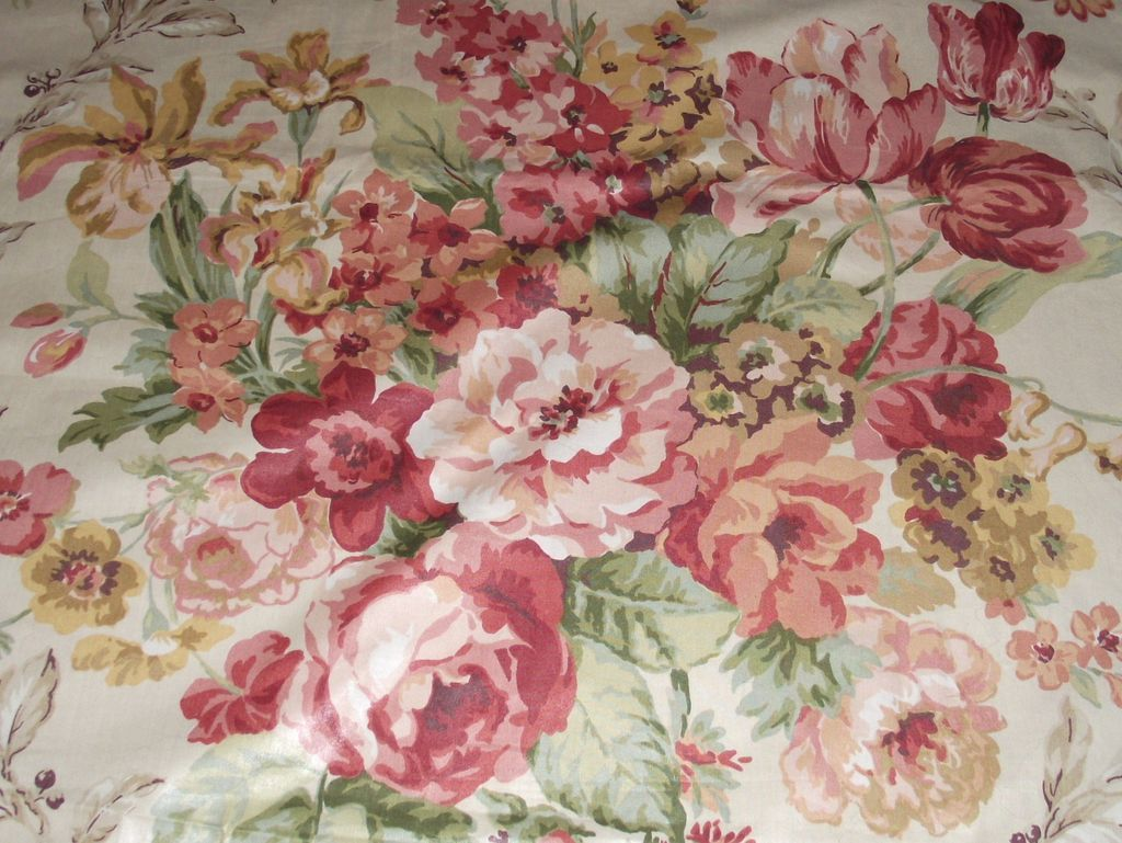 Classic english floral chintz comfortable home for Chintz fabric