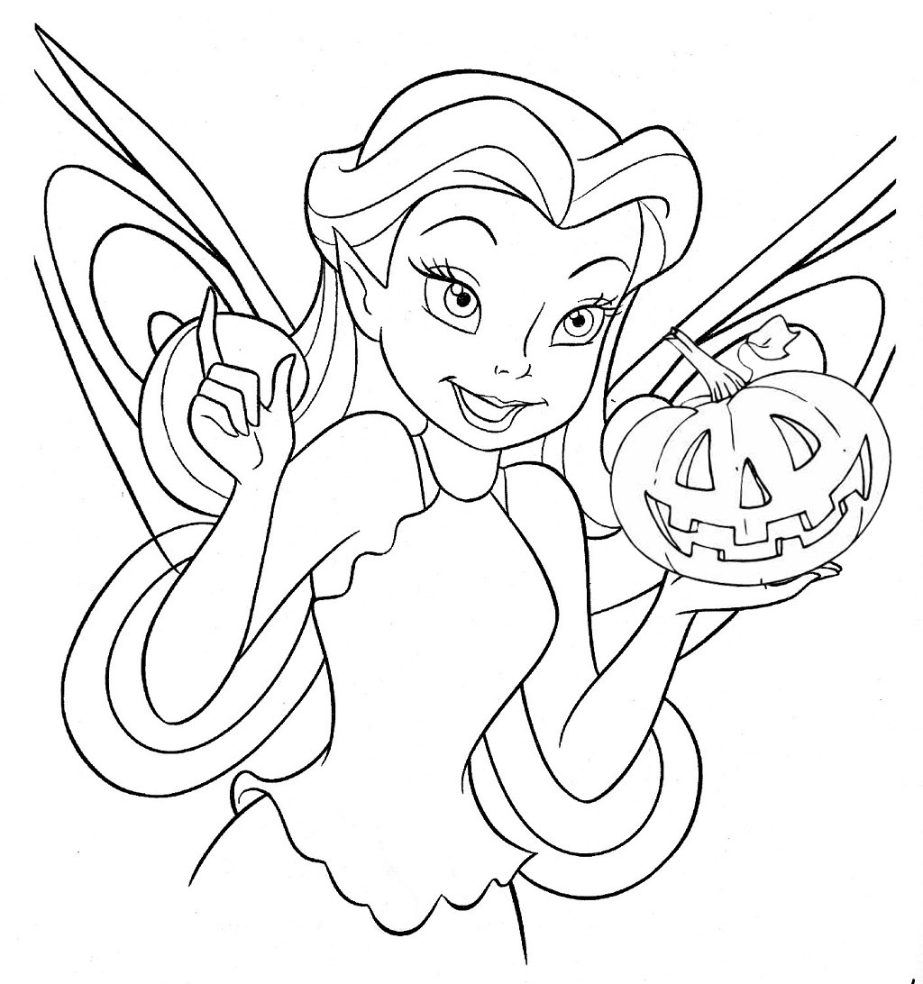 DISNEY FAIRY HALLOWEEN COLORING PAGE Heres A Fairy From Pixie Hollow