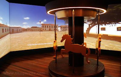 Carrossel do Nossas Praças, no Museu da Gente Sergipana, em Aracaju - Sergipe
