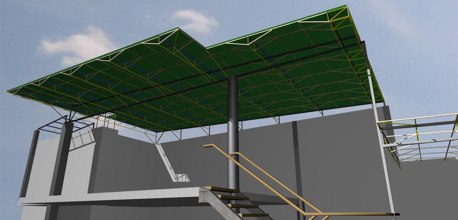 Santiago Des1gns Techo De Estructura Metalica Para Local