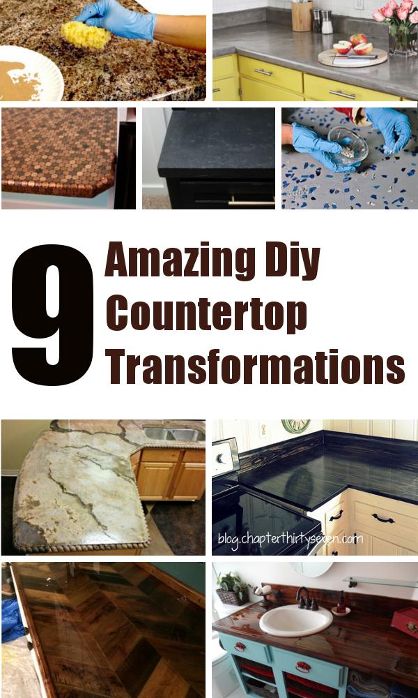 Diy bathroom countertop