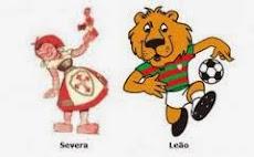 Mascotes Severa e Leão