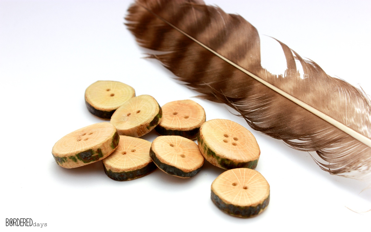 wooden buttons beeswaxed