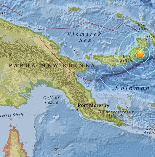 Magnitude 6.7 Earthquake of Kokopo, Papua New Guinea 2015-04-30