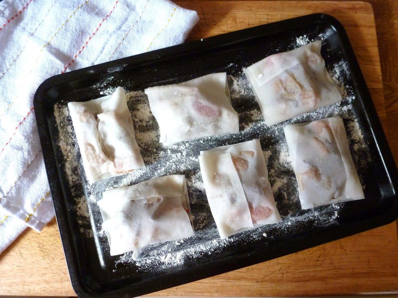 Rhubarb samosa's recipe