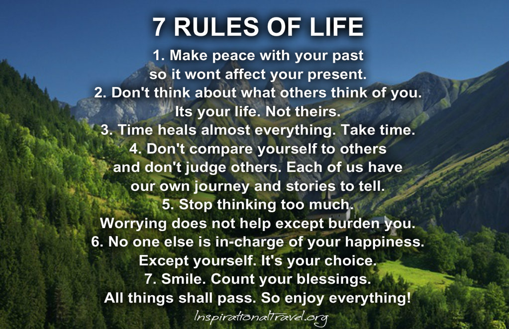 7 Rules Of Life Quote Extraordinary Good Quotes About Life