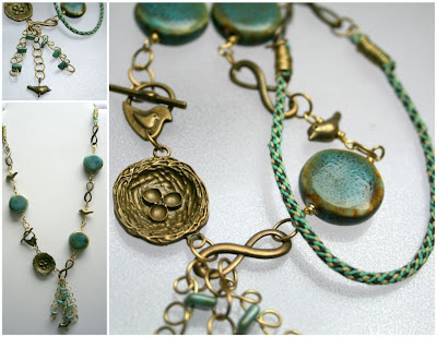 Bead Soup #7: Spring (brass, ceramic, wire wrapping,kumihimo) :: All Pretty Things