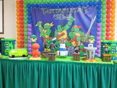 buffet-infantil-bauru-dinos-park-decoração-menino-tartarugas-ninjas