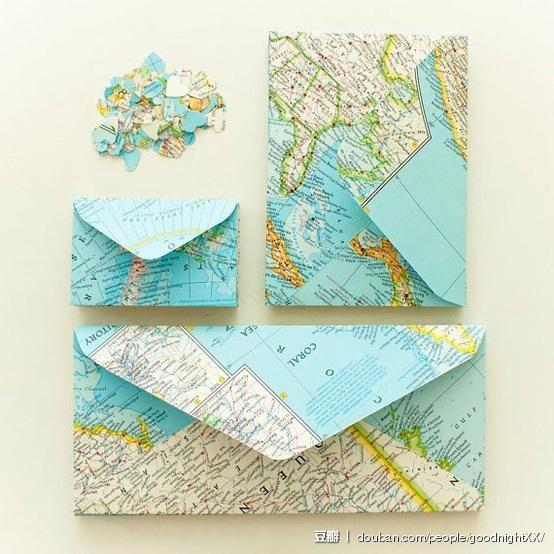 koperty z motywem mapy podróże