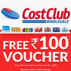 CostClub get Rs. 100 off on Rs. 500 [Delhi-Ncr, Mumbai & Kolkata]