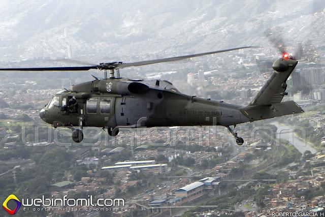 Helicóptero S-70i Black Hawk del Ejército de Colombia.