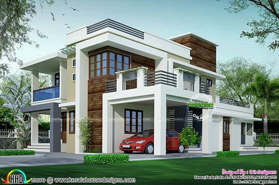 House design contemporary model kerala home design and for Contemporary model homes