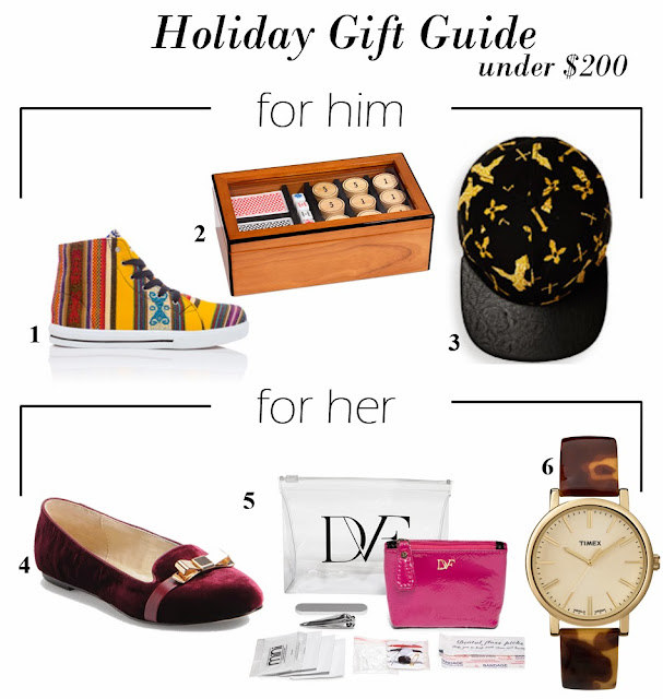 Holiday Gift Guide under $200: for him & for her