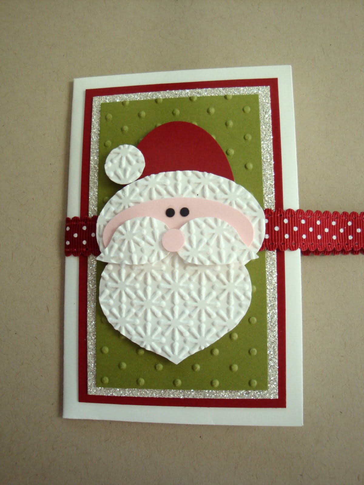 penguinstamper punch art santa gift card holder